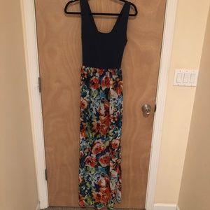 Long, Floral Maxi Dress